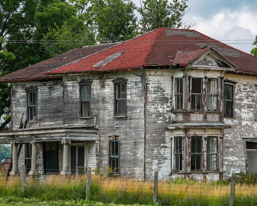 July 23, 2018  Abandoned old Farm Houses